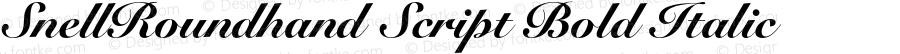 SnellRoundhand Script Bold Italic OTF 1.0;PS 001.001;Core 1.0.22