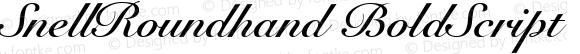 SnellRoundhand BoldScript Macromedia Fontographer 4.1 30/05/2002