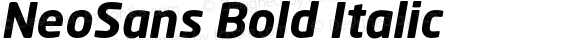 NeoSans Bold Italic