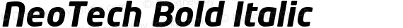 NeoTech Bold Italic preview image