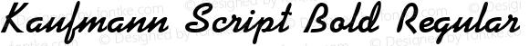 Kaufmann Script Bold Regular