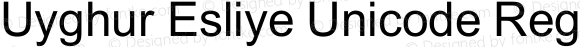 Uyghur Esliye Unicode