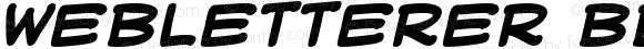 WebLetterer BB Bold