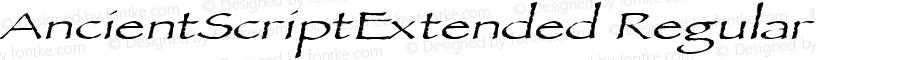 AncientScriptExtended Regular Version 1.00