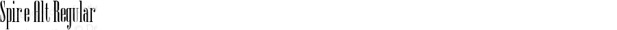 Spire Alt Regular Macromedia Fontographer 4.1 22-5-00