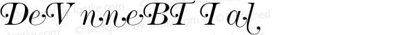 DeVinneBT Italic Version 001.000