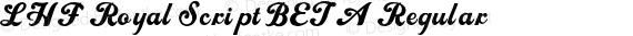 LHF Royal Script BETA Regular preview image