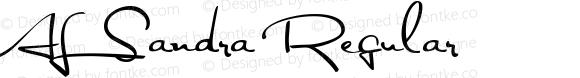 AL Sandra Regular Macromedia Fontographer 4.1.5 5/24/04
