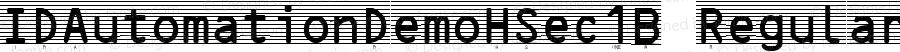 IDAutomationDemoHSec1B Regular Version 4.009 2004