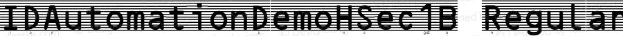 IDAutomationDemoHSec1B Regular Version 4.900;PS 004.009;hotconv 1.0.38
