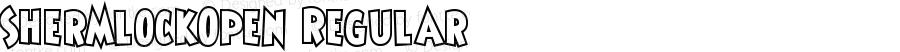 ShermlockOpen Regular Macromedia Fontographer 4.1.5 2/3/04
