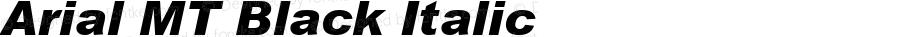 Arial MT Black Italic 001.003