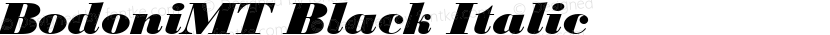 BodoniMT Black Italic Preview Image