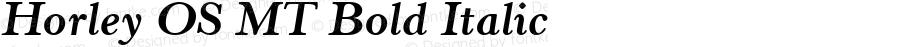 Horley OS MT Bold Italic 001.003
