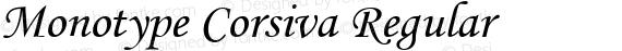 Monotype Corsiva Regular preview image