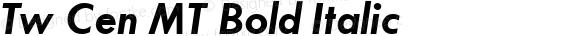 20th Century Bold Italic