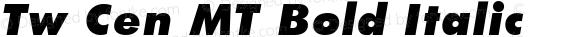 20th Century Ultra Bold Italic