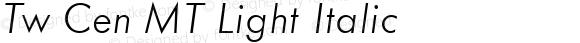 20th Century Light Italic