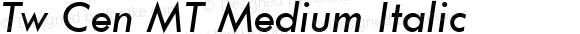 20th Century Medium Italic
