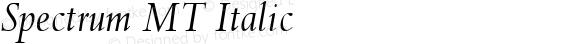 Spectrum MT Italic