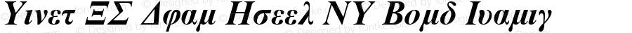 Times NR Dual Greek MT Bold Italic 001.003