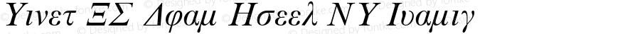 Times NR Dual Greek MT Italic 001.003