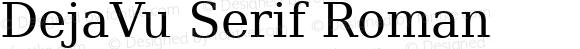 DejaVu Serif Roman Release 1.10 (DejaVu 1.4)
