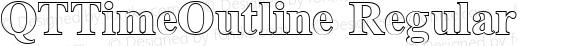 QTTimeOutline Regular QualiType TrueType font  9/18/92