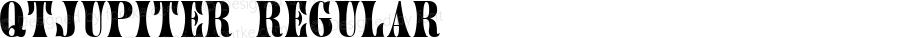 QTJupiter Regular QualiType TrueType font  9/18/92