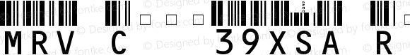 MRV Code39XSA Regular V3.0.0.0