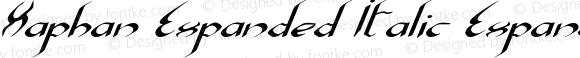 Xaphan Expanded Italic Expanded Italic