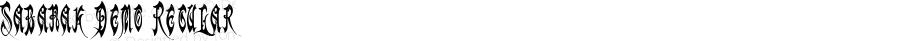 Sabanak Demo Regular Macromedia Fontographer 4.1.4 10/10/03