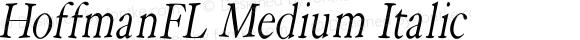 HoffmanFL Medium Italic