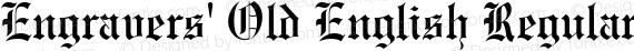 Engravers' Old English Regular preview image