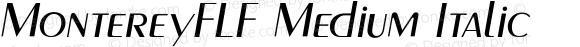 MontereyFLF Medium Italic