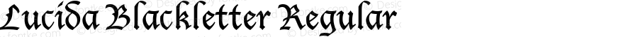 Lucida Blackletter Regular Version 1.01