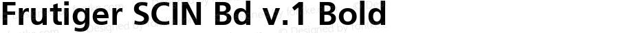 Frutiger SCIN Bd v.1 Bold Macromedia Fontographer 4.1 2/16/00
