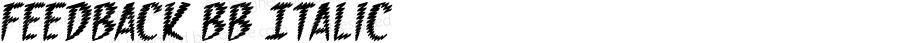 Feedback BB Italic Macromedia Fontographer 4.1 12/17/04