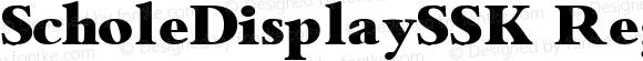 ScholeDisplaySSK Regular Altsys Metamorphosis:9/1/94