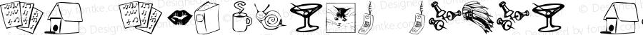 KR Katlings Seven Regular Macromedia Fontographer 4.1 11/16/2004