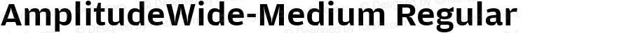 AmplitudeWide-Medium Regular Version 1.0