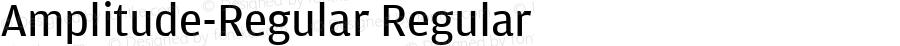 Amplitude-Regular Regular Version 1.0