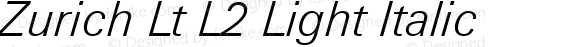 Zurich Lt L2 Light Italic mfgpctt-v1.86 Feb 20 1996