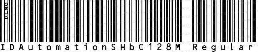 IDAutomationSHbC128M Regular Version 5.1 2005