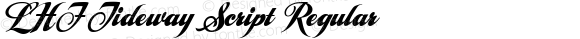 LHF Tideway Script Regular V3. 1/17/2004  www.letterheadfonts.com