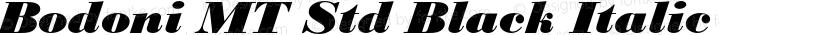 Bodoni MT Std Black Italic Preview Image