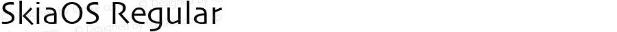 SkiaOS Regular FontLab 4.0