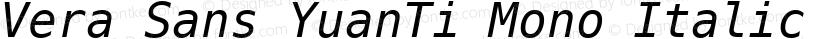 Vera Sans YuanTi Mono Italic Preview Image