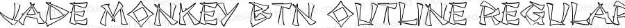 Jade Monkey BTN Outline Regular Version 1.00