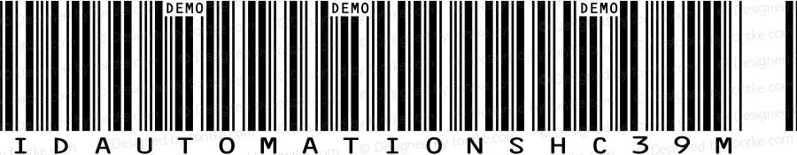 IDAutomationSHC39M Regular Version 5.200;PS 005.002;hotconv 1.0.38